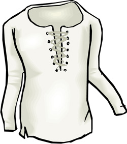 Illustration of a long-sleeved shirt