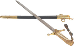 Photo of a sword and scabbard