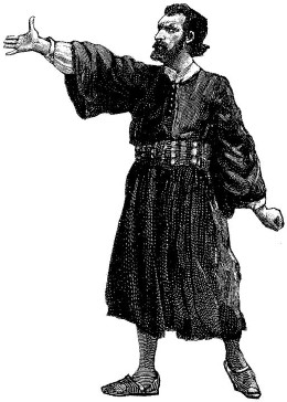 Drawing of man in robe.